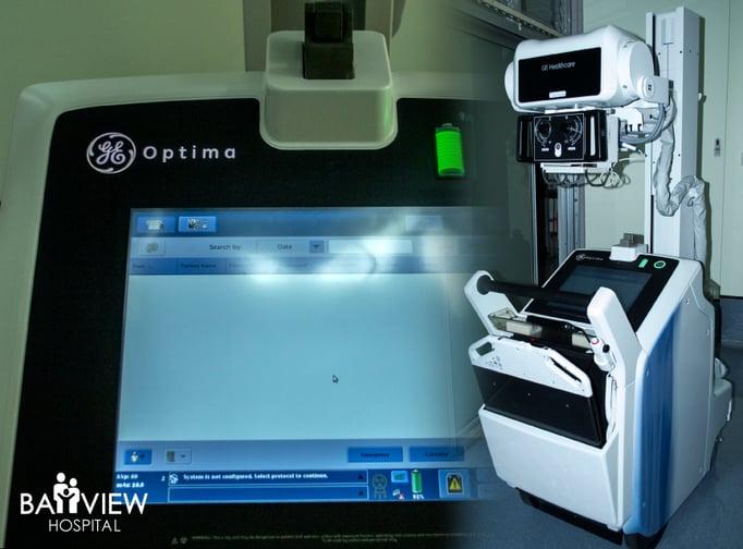 New X-ray machine at Bayview Hospital