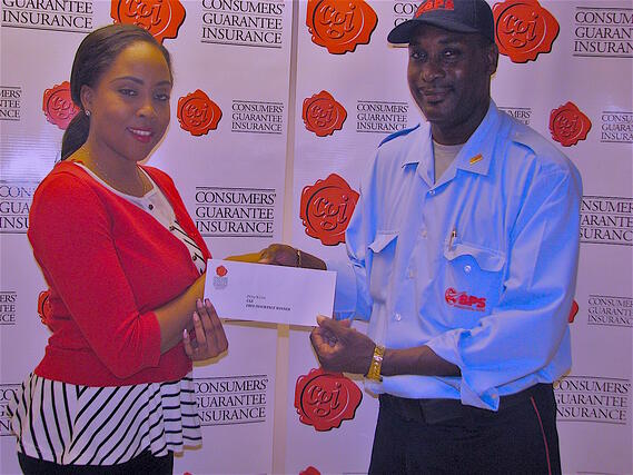 Postal worker Philip Cain was CGI's win free insurance promotion most recent winner