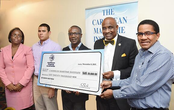 Caribbean Shipping Association awards Monica Silver scholarship to 8 students of the Caribbean Maritime Institute