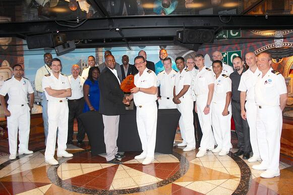 Carnival Elation makes her first call to the Bridgetown Port