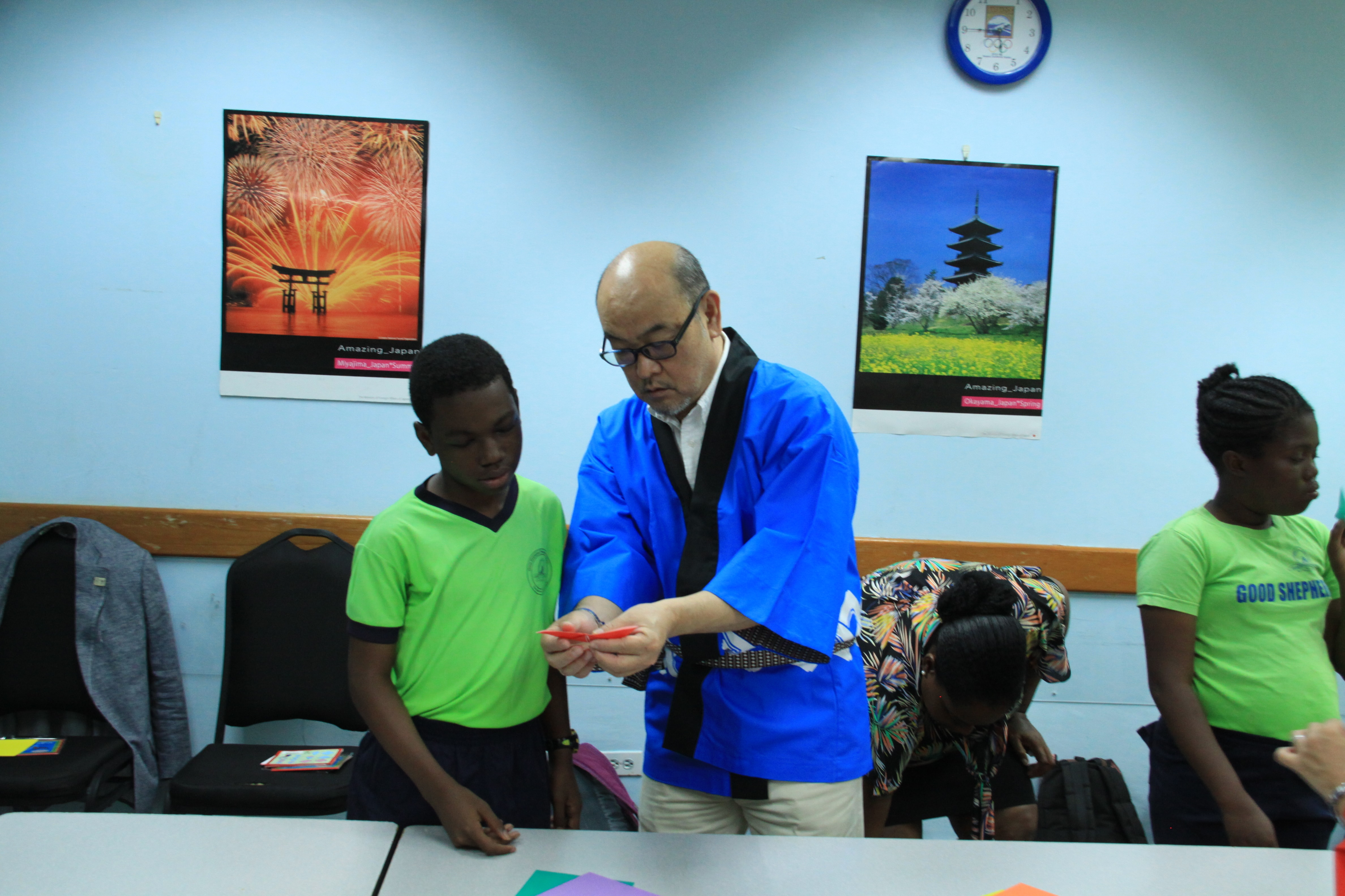 Origami with the Japanese Ambassador