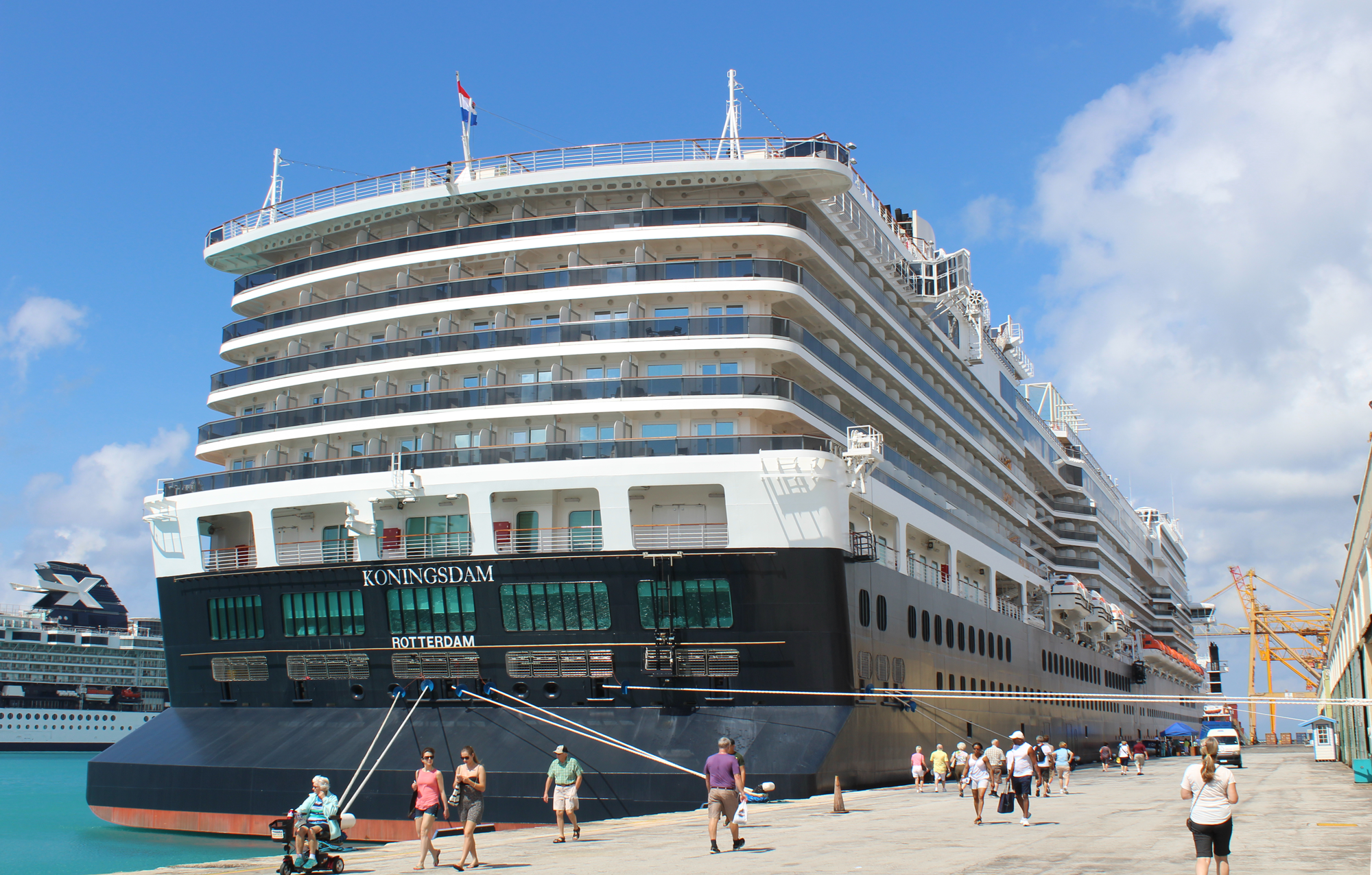 MS Koningsdam in its first ever visit to Barbados, 2016