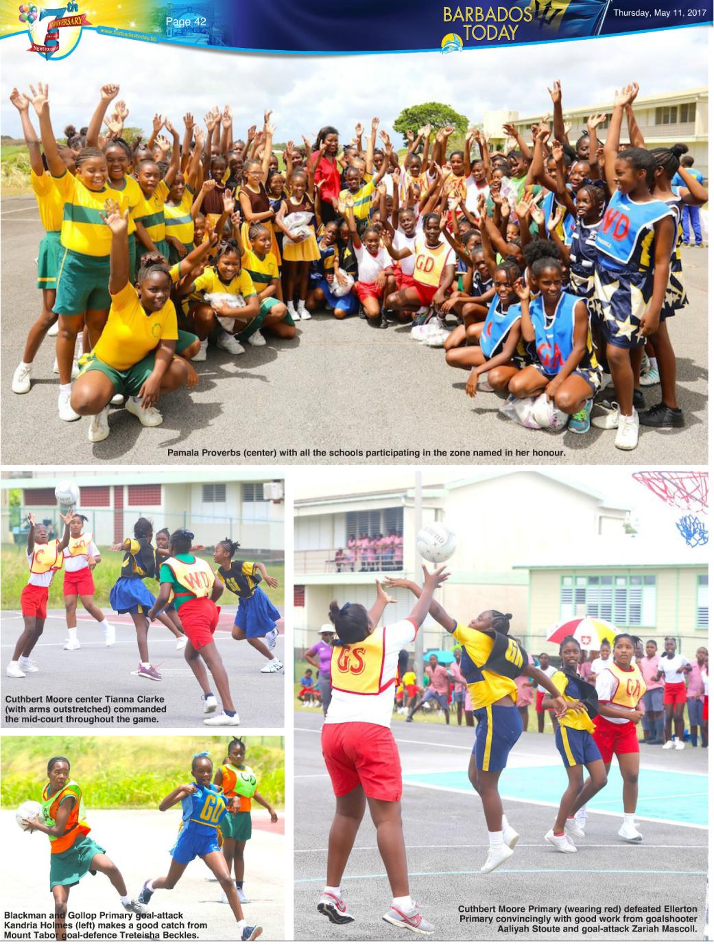 Pamala Proverbs of PRMR Inc. donates netballs to Barbados athletes